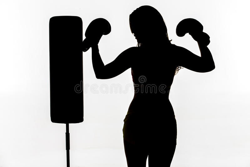 Female Boxer In The Gym royalty free stock images