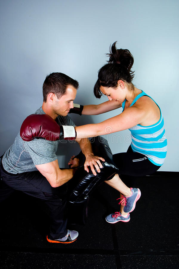 Download Female boxer in training stock image. Image of aggression - 20351403