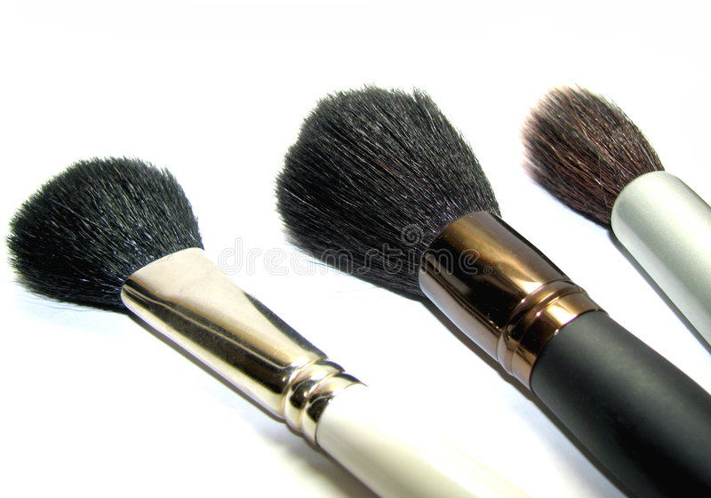 Download Female Brushes For A Make-up Stock Photo - Image: 4186440