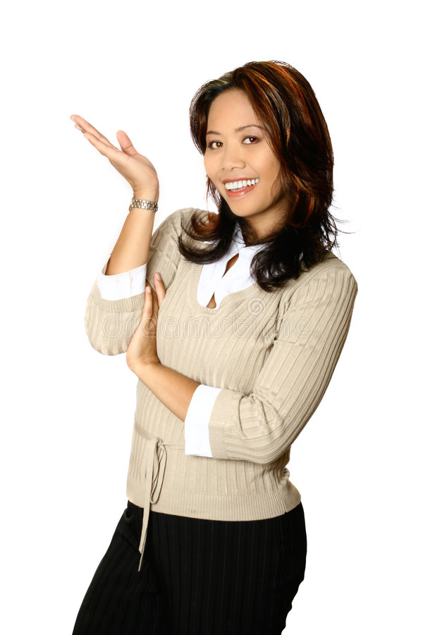 Download Female business presenter stock image. Image of host, question - 2449433