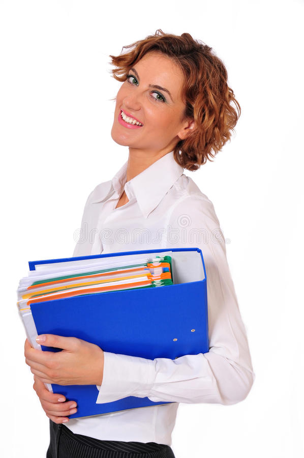 Download Female Business Professional With Binder In-hand Stock Image - Image: 11038485