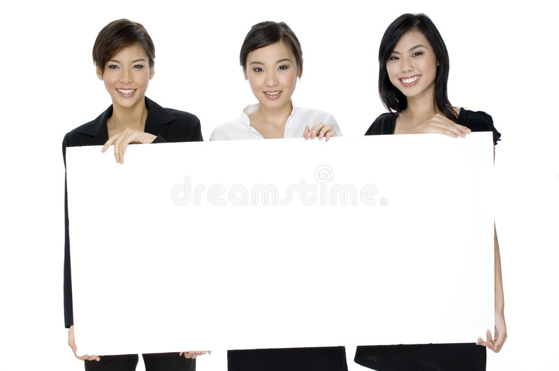 Download Female Business Sign stock photo. Image of smiling, confidence - 1410930