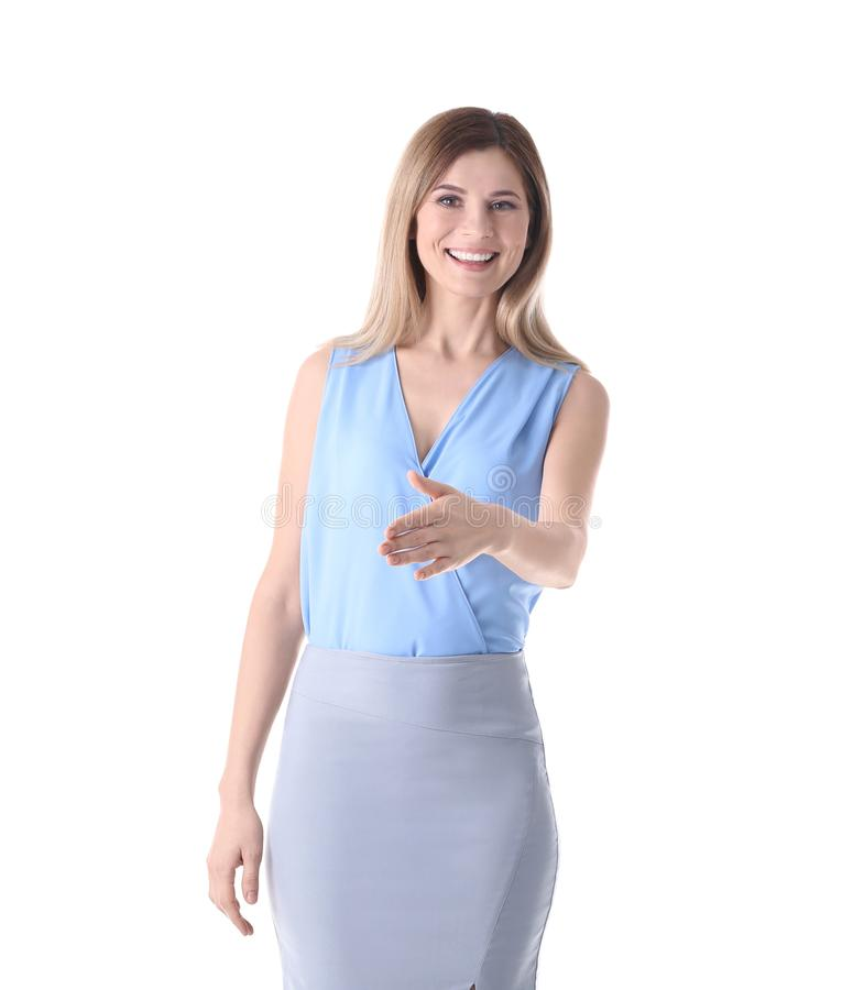 Female business trainer stock photography