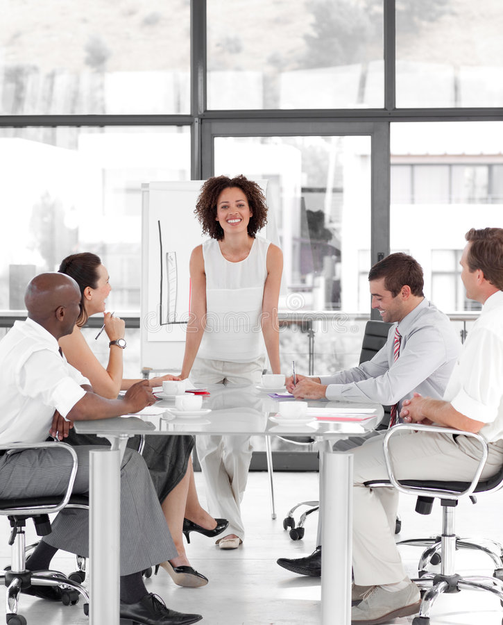 Free Female Business Woman Giving A Presentation Stock Photography - 9002052