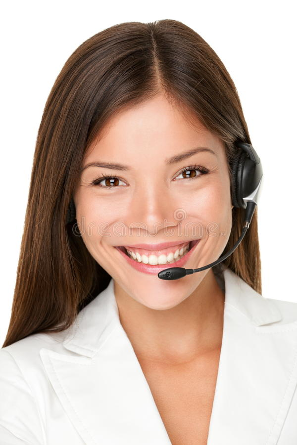 Download Female Call Center Operator Stock Image - Image: 28039355