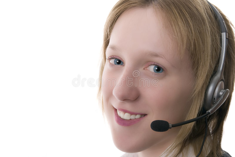 Download Female Call Centre Operative Stock Photo - Image: 3475586