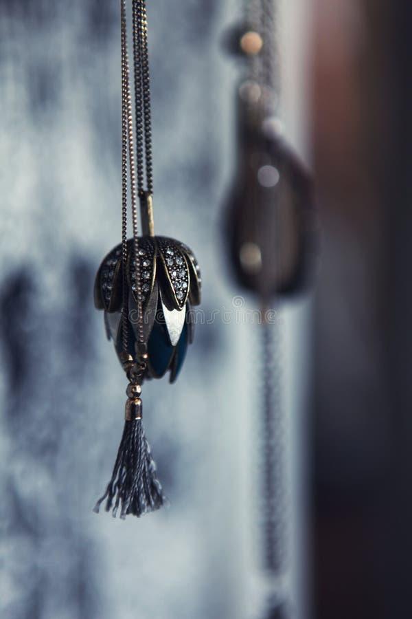 Female chain pendant jewellery stock image