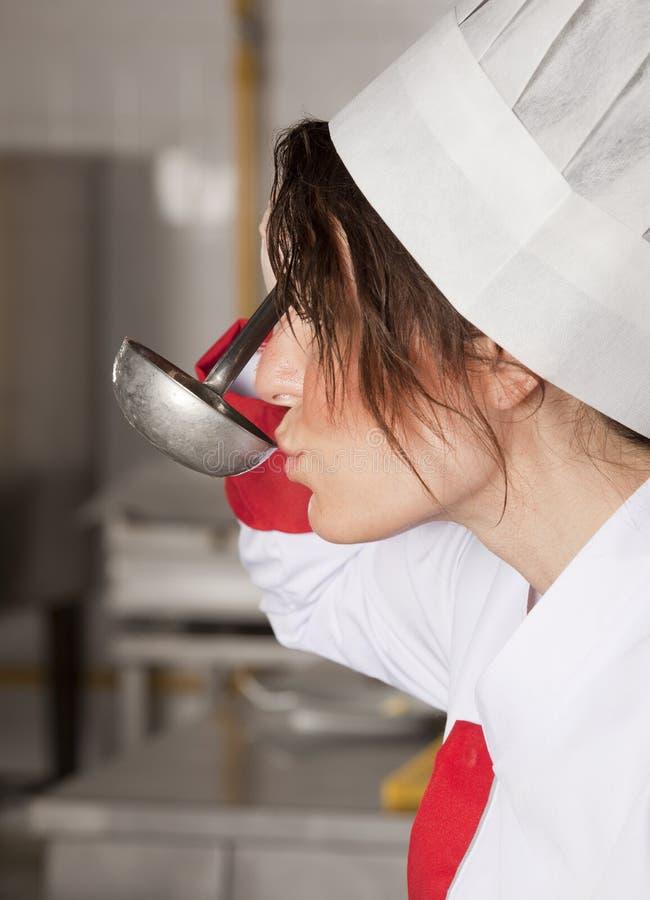 Female chef royalty free stock photo