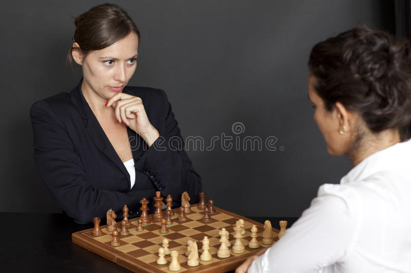 Download Female Chess Game Stock Photo - Image: 23817770