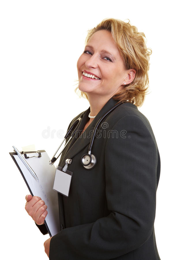 Female chief physician royalty free stock photo