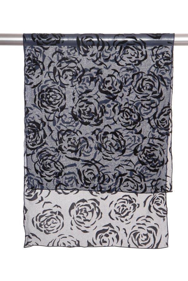 Female chiffon scarf royalty free stock photography