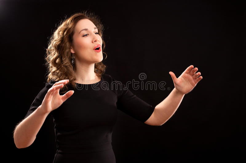 Download Female choir conductor stock photo. Image of female, conduct - 36441690