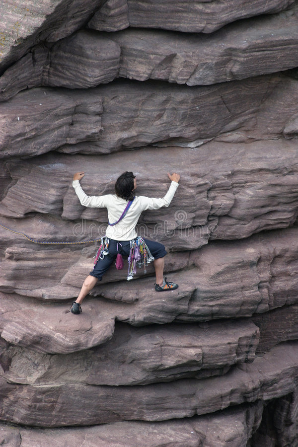 Female Climber stock image