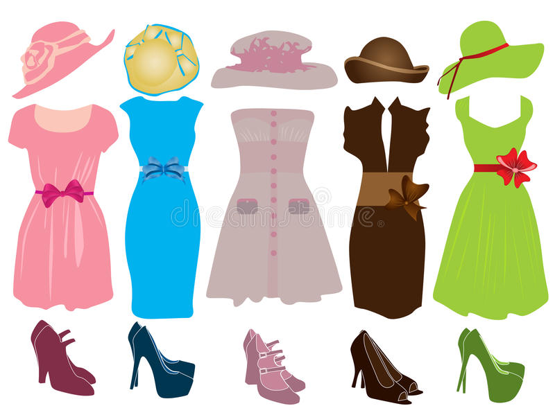 Download Female clothing stock vector. Image of females, cosmetic - 25993203