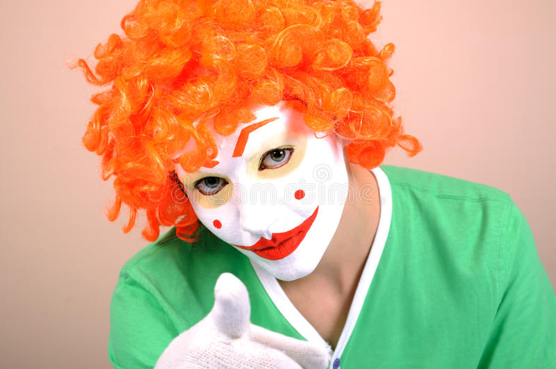 Download Female clown stock image. Image of theatrical, woman - 15065393