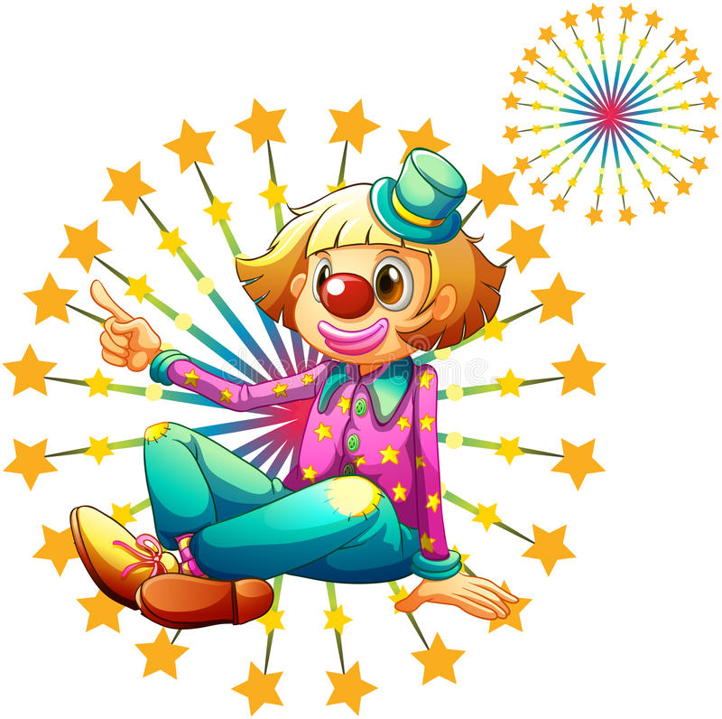 Download A Female Clown With Fireworks Stock Vector - Image: 33072371