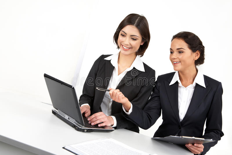 Female colleagues royalty free stock photo
