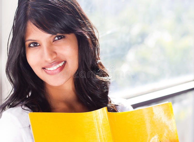 Download Female college student stock photo. Image of home, book - 19968788