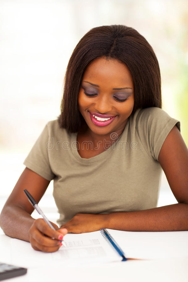 Download Female college student stock image. Image of indoor, african - 28751689