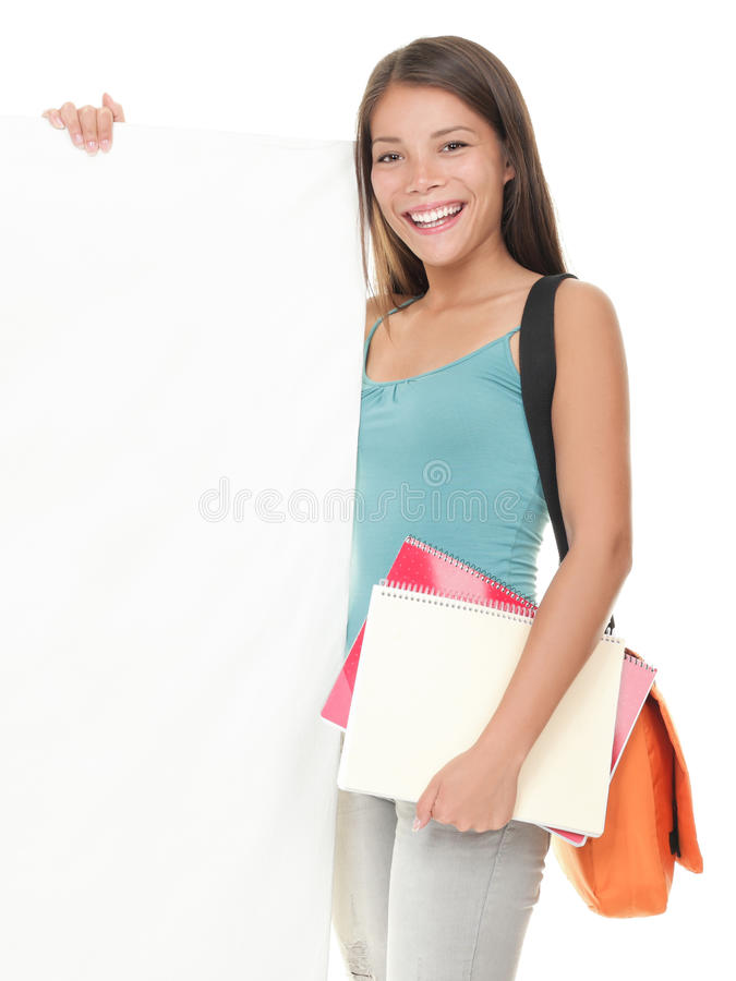 Download Female College Student Showing Sign Stock Photo - Image: 16282036