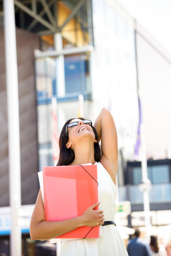 Female college student success royalty free stock image
