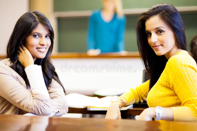 Female college students stock image