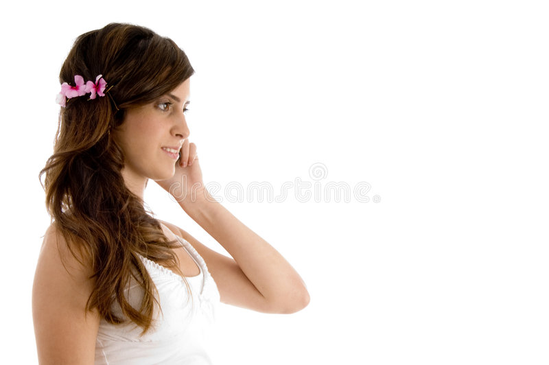 Download Female Communicating On Mobile Stock Photo - Image: 7418470