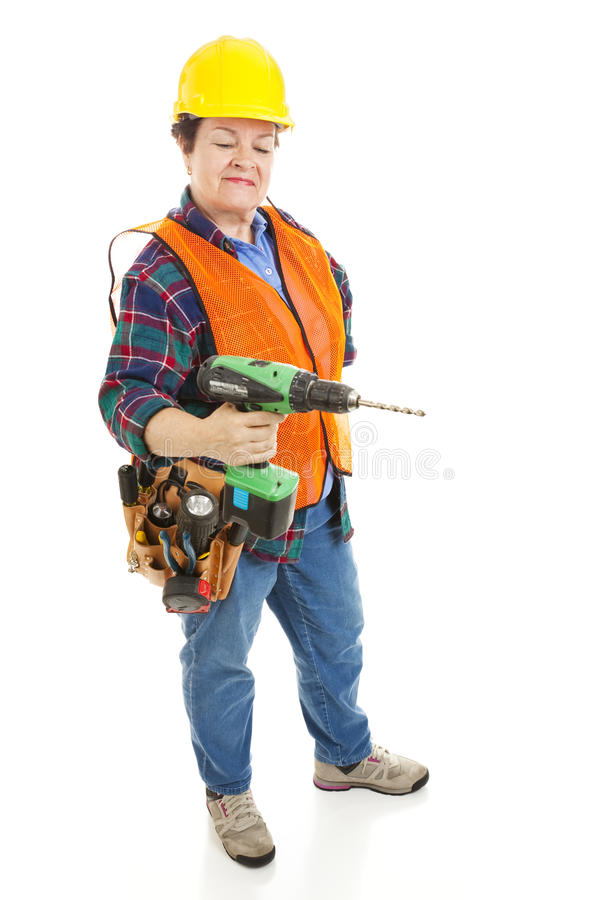 Female Construction Electrician royalty free stock image