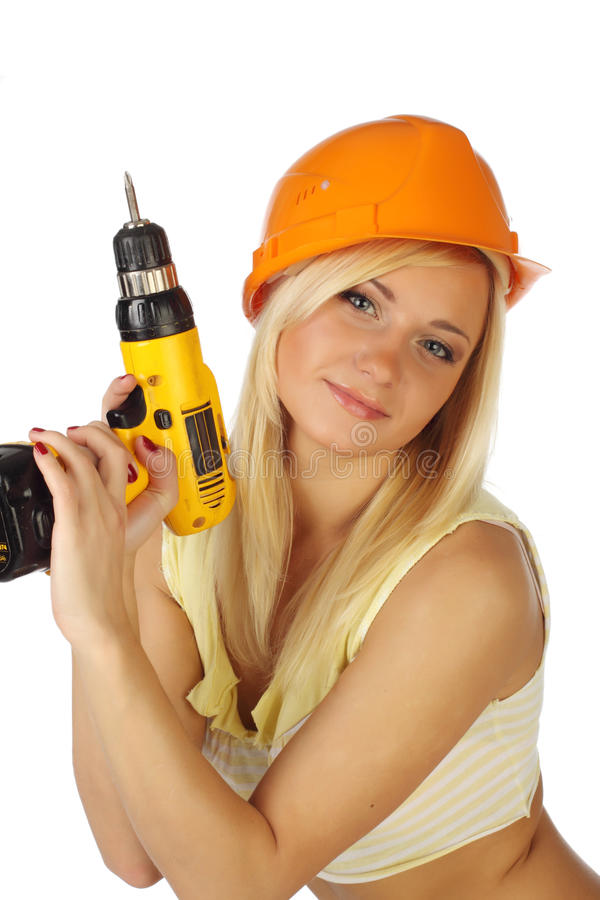 Free Female Construction Worker Royalty Free Stock Photo - 13062425