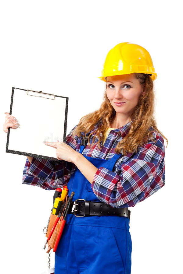 Download Female construction worker stock image. Image of craftsperson - 13495601