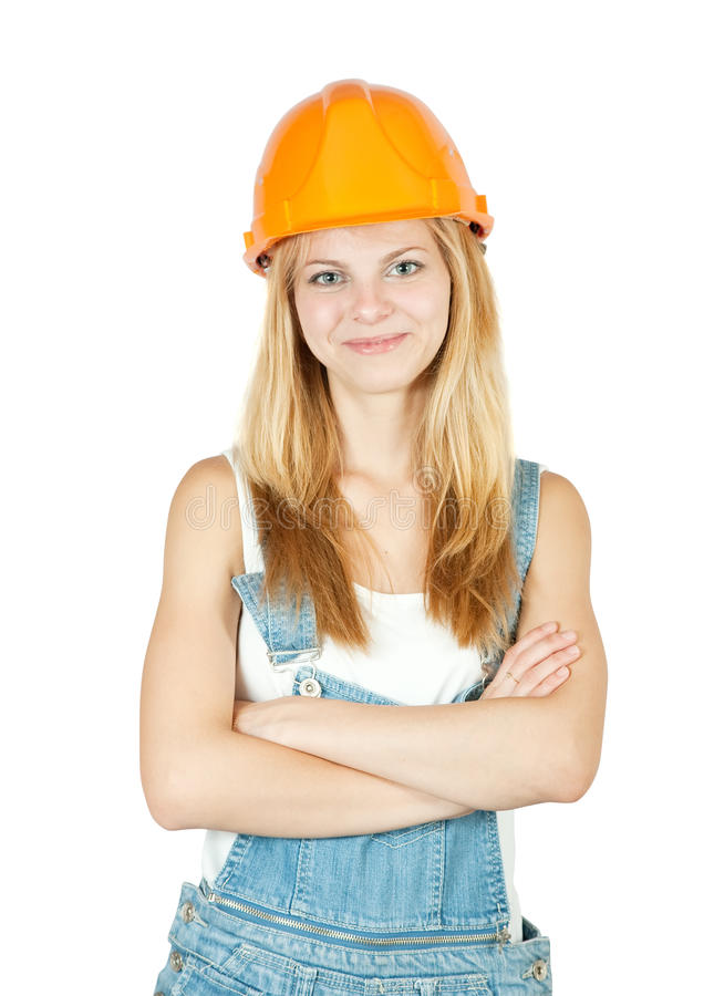 Download Female construction worker stock image. Image of businesswoman - 14717463