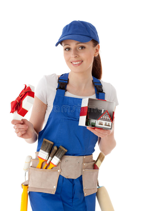Download Female Construction Worker. Stock Image - Image: 20737417