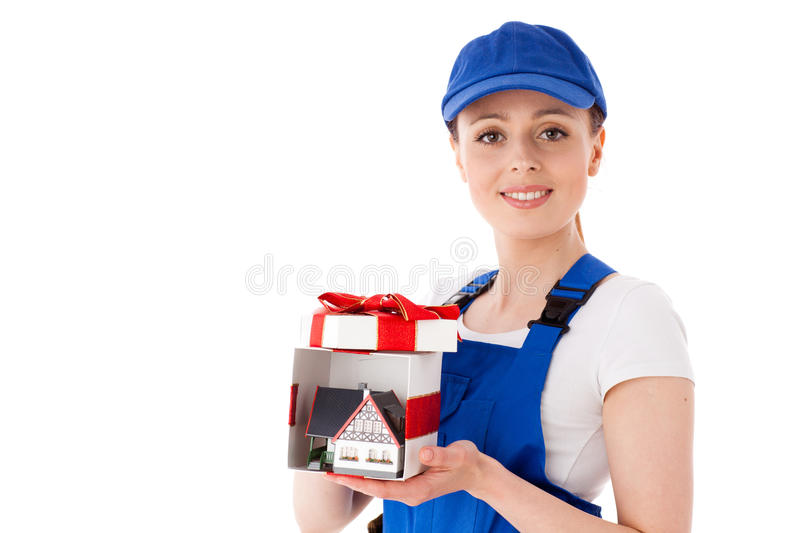 Download Female Construction Worker. Stock Photos - Image: 22704813