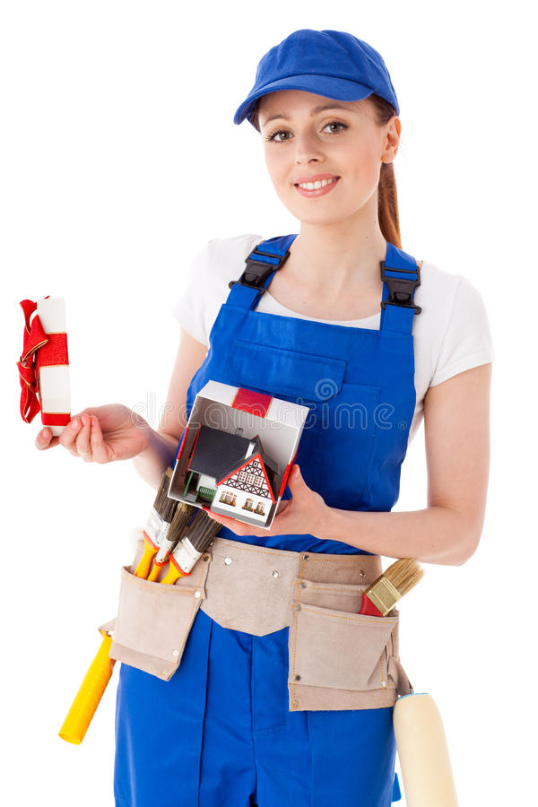 Download Female Construction Worker. Stock Image - Image: 22704815