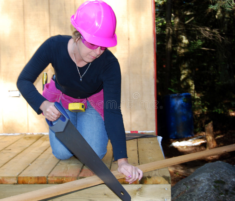 Download Female Construction Worker Stock Image - Image: 3135931
