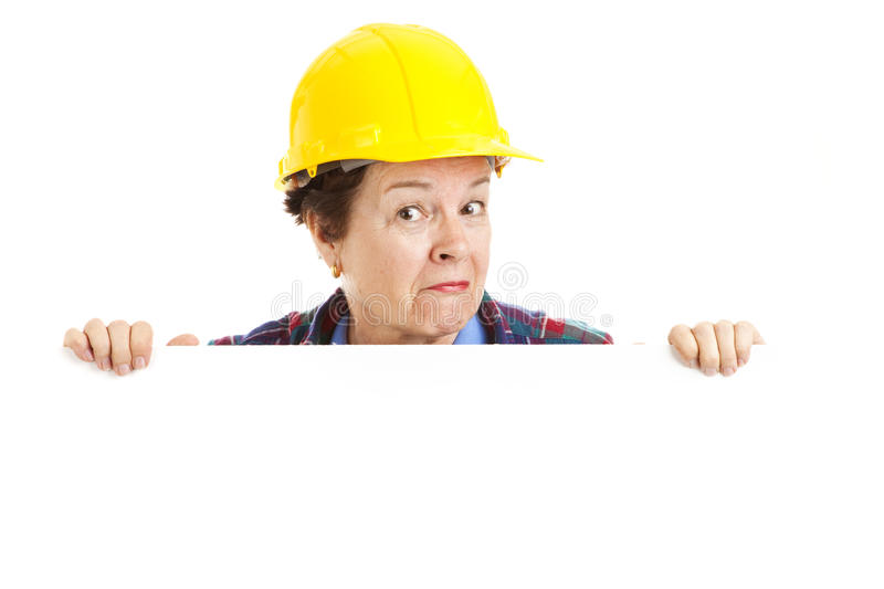 Download Female Construction Worker - Peekaboo Stock Image - Image: 14457071