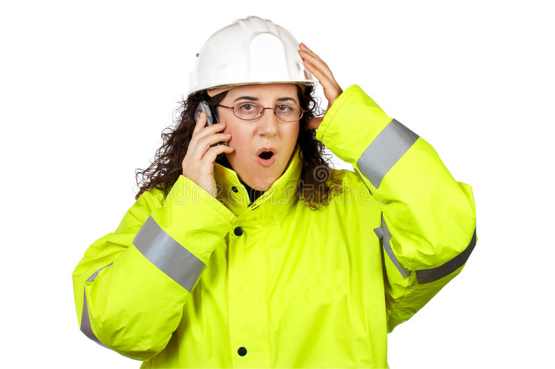 Download Female Construction Worker Surprised Stock Photo - Image: 2035696
