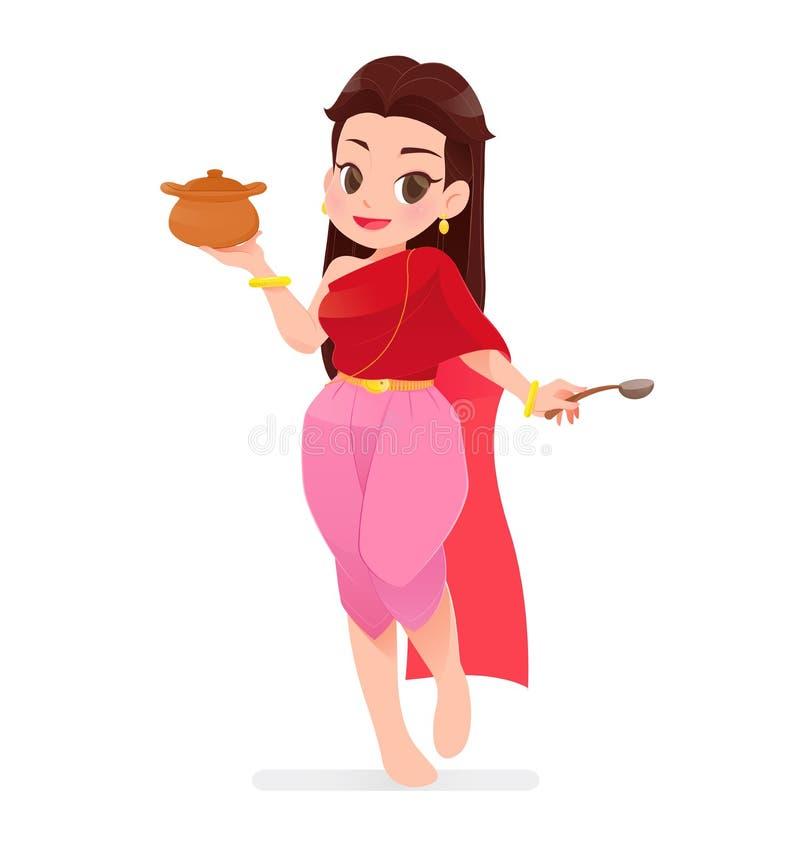 Female cook stock illustration