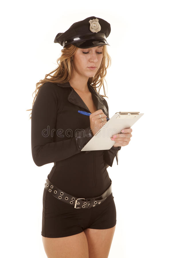 Download Female Cop Writing A Ticket Stock Image - Image: 32920613