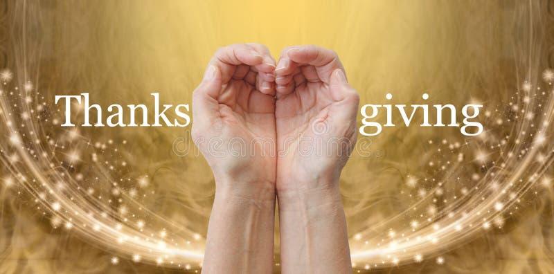 LOVE THANKSGIVING Heart Hands Banner stock photography
