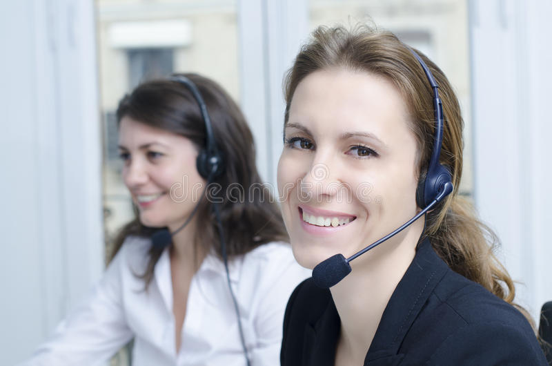 Download Female customer service stock image. Image of call, desk - 27825355