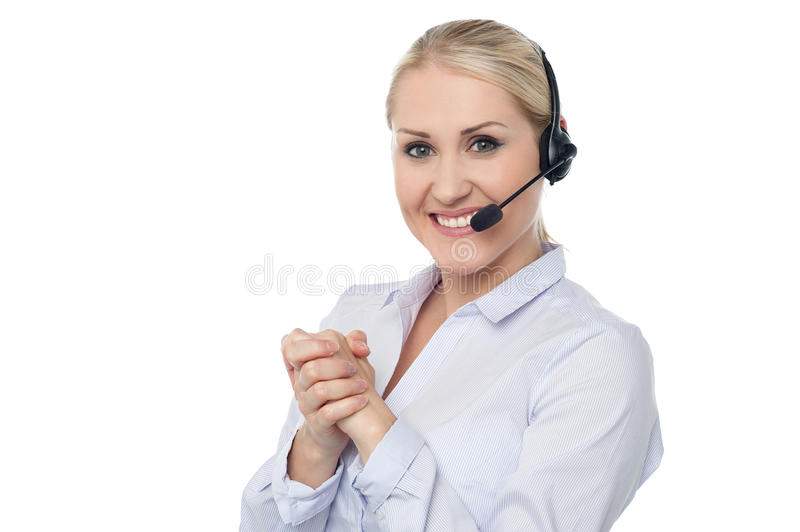 Download Female Customer Support Executive Stock Image - Image: 35738377