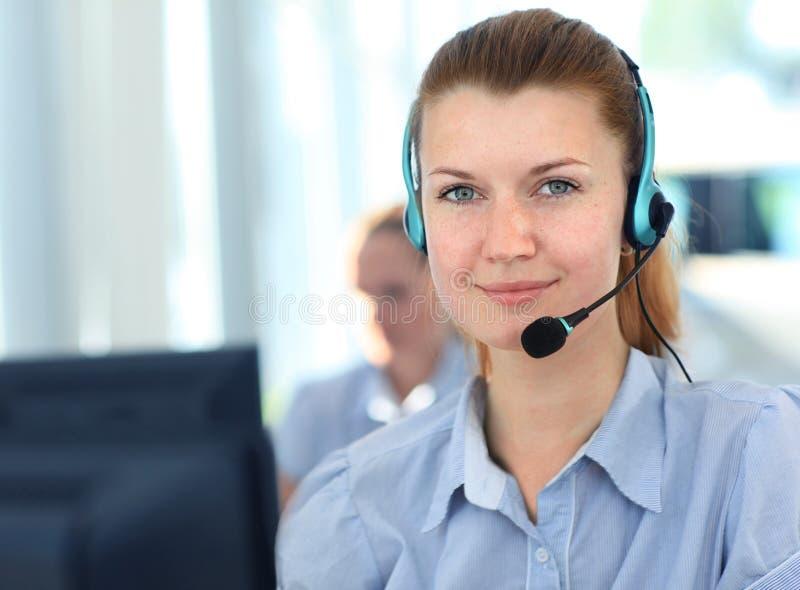 Female customer support operator royalty free stock photo