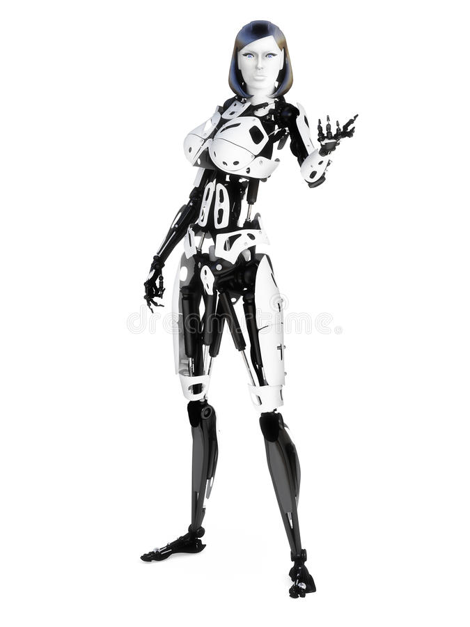 Female cyber robot  sc 1 st  Dreamstime.com & Female cyber robot stock illustration. Illustration of assistance ...