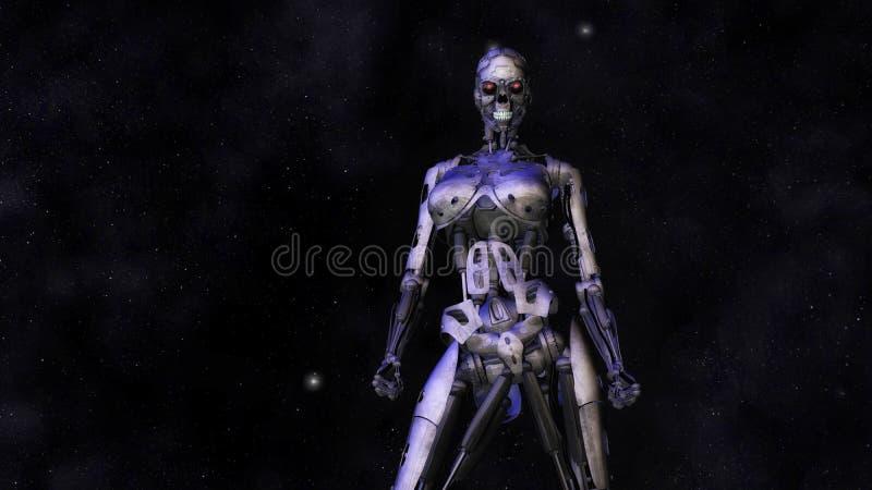 Female Cyborg Royalty Free Stock Photo