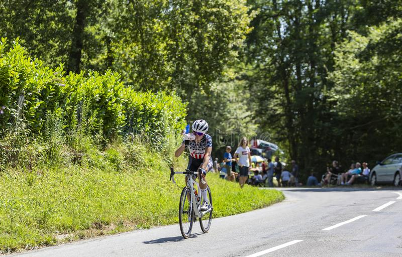 The Female Cyclist Ruth Winder - La Course by Le Tour de France 2019 royalty free stock photos