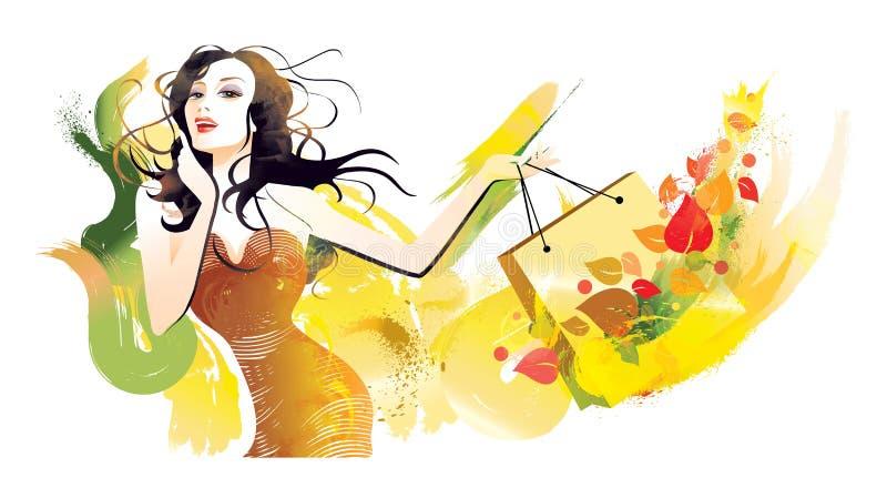 Female_dance_brush stock abbildung
