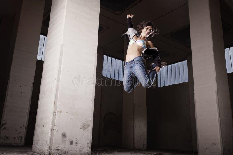 Female dancer jumping.