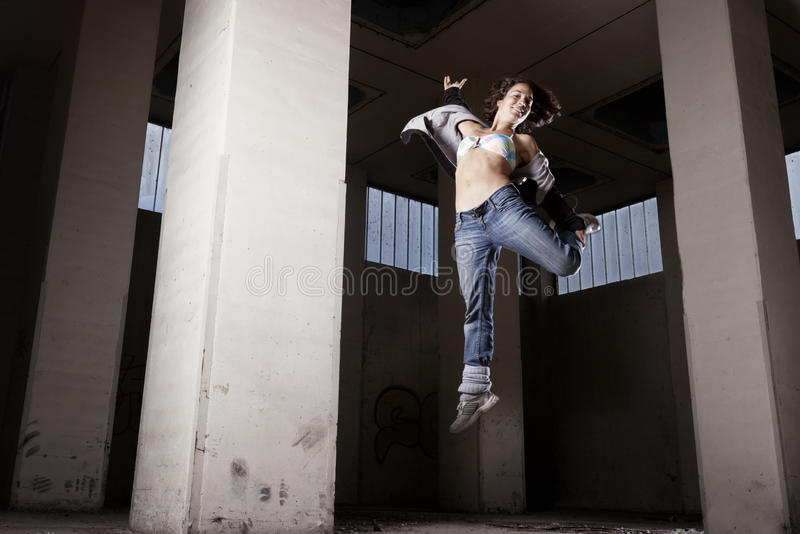 Download Female Dancer Jumping. Royalty Free Stock Image - Image: 19995046