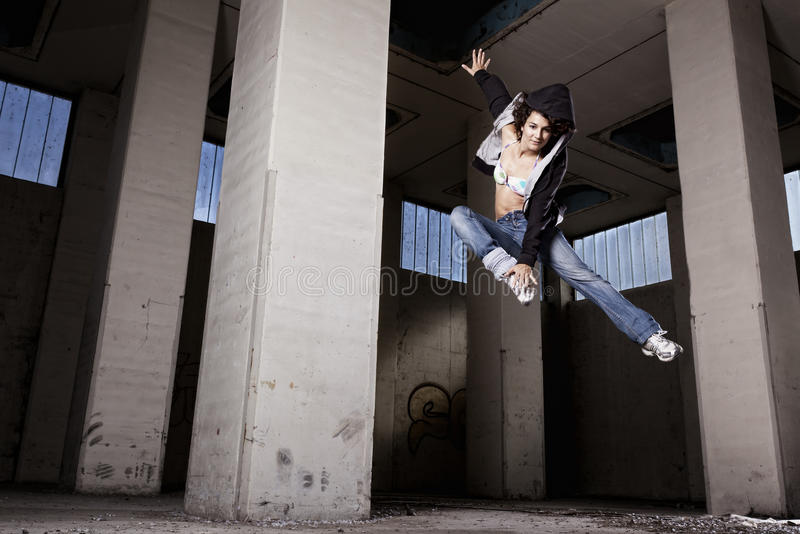 Female Dancer Jumping. Stock Photography